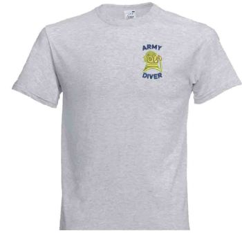 Army Diver Embroidered Tshirt